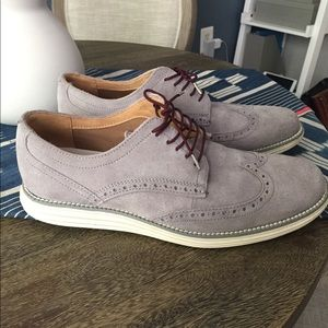 Cole Haan Grand Men's Wingtip Oxford - Grey Suede
